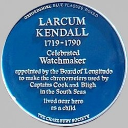 Larcum Kendall Blue Plaque